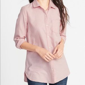 NWT OLD NAVY Relaxed Heather Pink Tunic Shirt XL